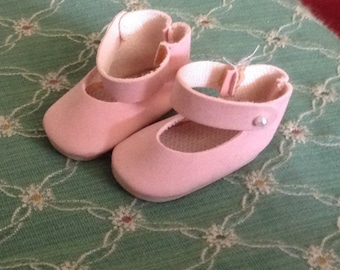 Pretty Pink Easter Doll Shoes