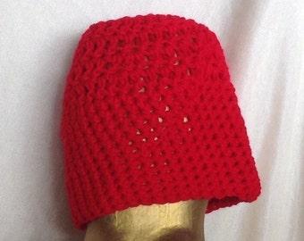 Handmade Crocheted Red Hat