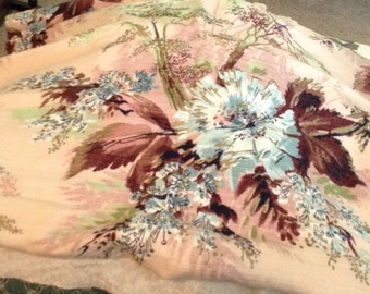 Very Vintage Floral Curtain Fabric