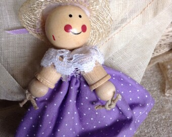 Handmade Spool Doll Ready to wear