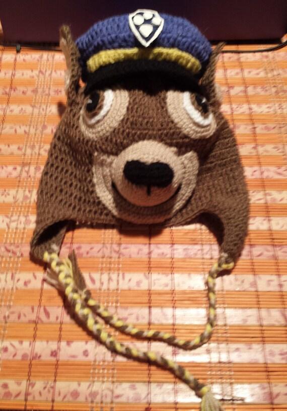 Paw Patrol Hatcrochet Police Dog Hatchase Paw Patrol Crochet Etsy