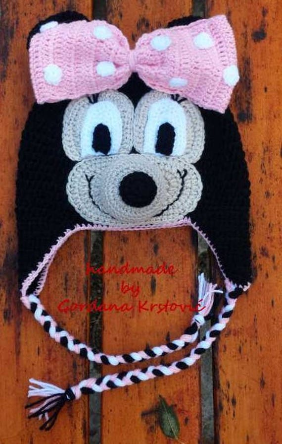 Minnie Mouse Hoed Minnie Mouse Cartoon Cartoon Hoed Muts Etsy