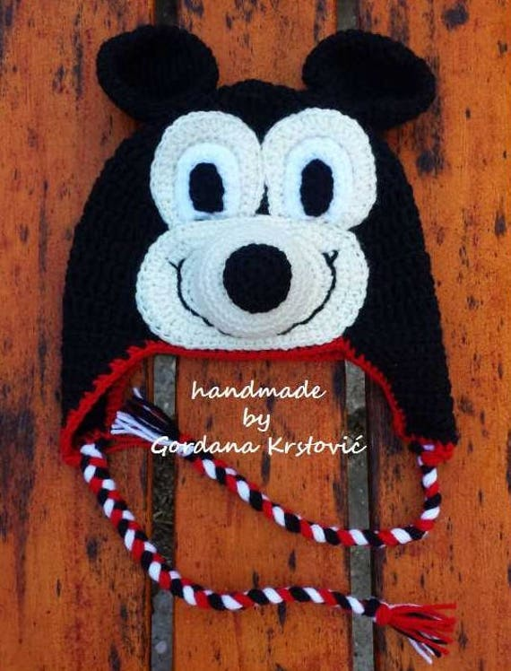 Mickey mouse hat,Mickey mouse cartoon,cartoon hat,crochet hat,crochet  Mickey,crochet mouse,Mickey mouse crochet,characters hat,crazy hat