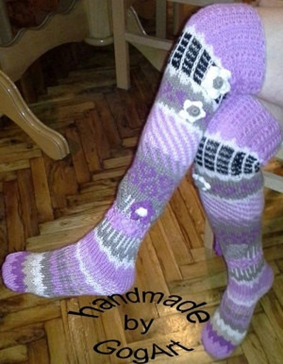 515f8e75365 Thigh High SocksOver The Knee SocksHand knit knee