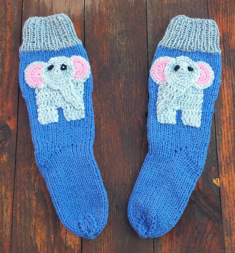 40dde1b3b Baby SocksAnimal SocksElephant Sockshandmade SocksToddler