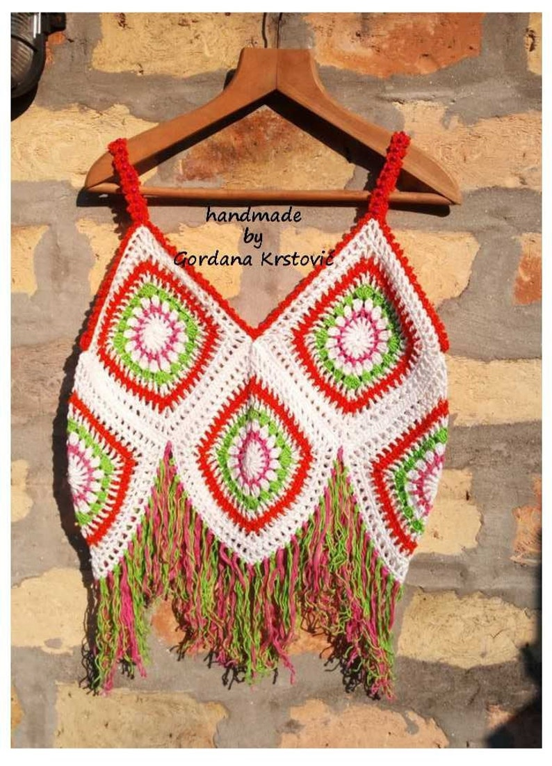 Top hippie Granny boho Crochet Top Top spellamp; The Gypsy And Top Square Top vintage gypsy Top Top Top crochet patchwork 0O8nwPXk