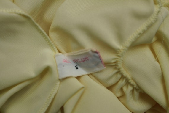 Vintage Babydoll Yellow Shadowline Nightgown Nigh… - image 6