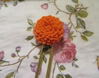 Resin Mum Cabochon Planner Paperclip - Orange