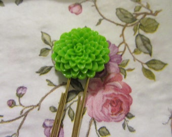Resin Mum Cabochon Planner Paperclip - Green