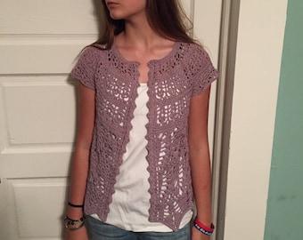 Girls crochet cardigan
