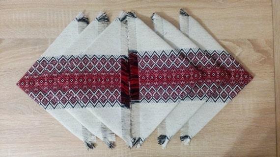 Set Of Table Napkins In Ukrainian Traditional Style Ukrainian Etsy
