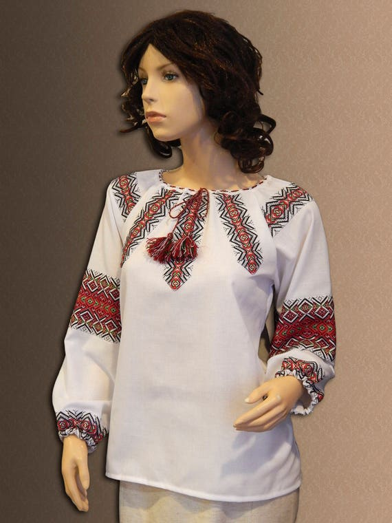 Ukrainian suit Folk Blouse and embroidery Skirt costume clothing Ethnic Ukrainian Cotton costume Womens vqrwHFv4