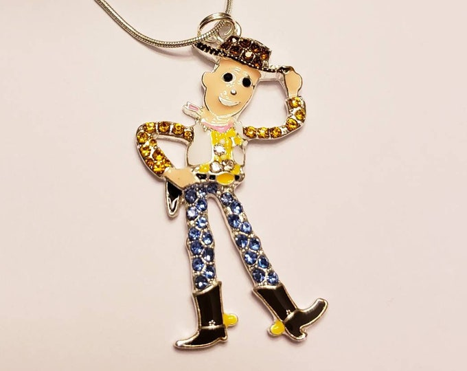 Disney Toy Story Chunky Enamel Pendant Silver Necklace