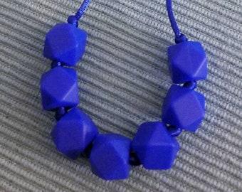 Hexagon Silicone Bead Teething Necklace