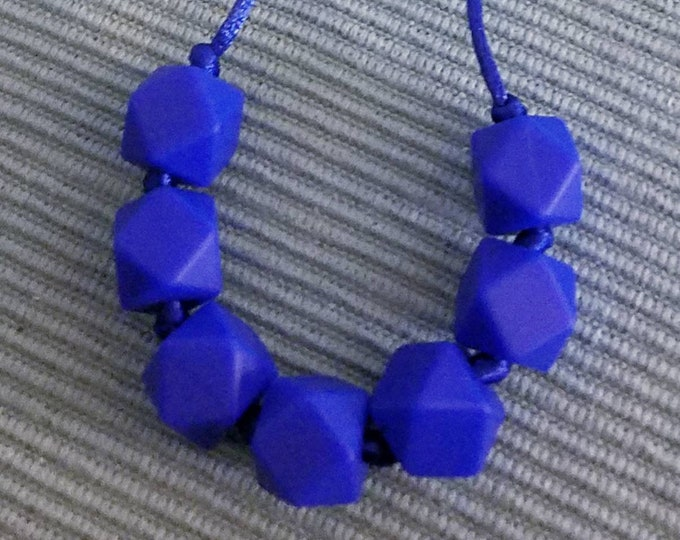 Hexagon Silicone Bead Teething Necklace