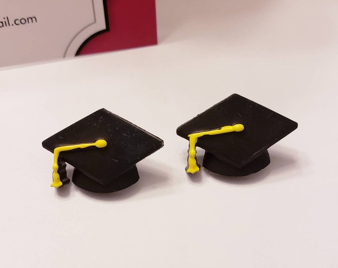 Graduation Caps Stud Earrings