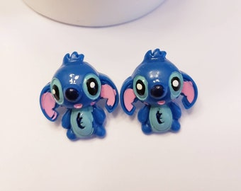 Happy Stitch Button Earrings