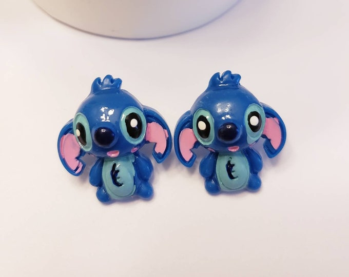 Happy Stitch Button Earrings