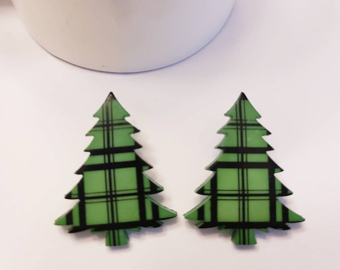 Midnight Holiday Forest Stud Earrings
