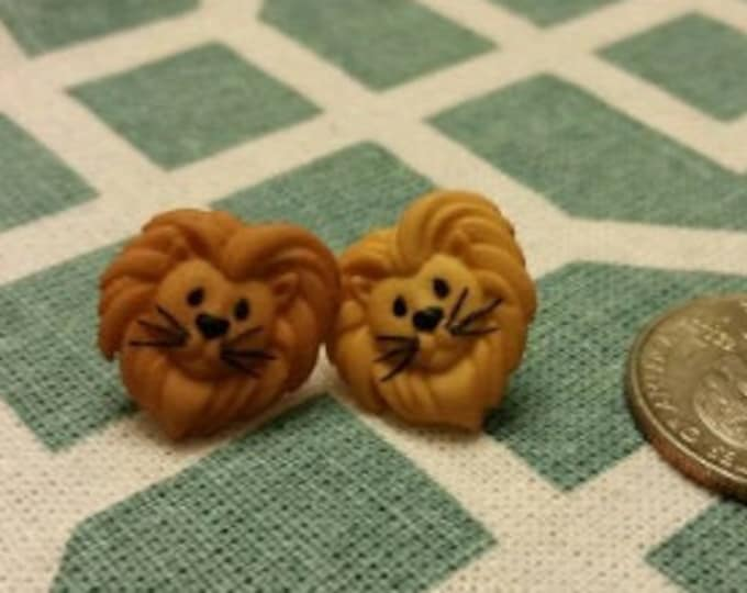 Jungle Safari Animals Button Stud Earrings