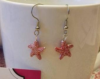 Bright Ocean Starfish Charm Dangle Earrings