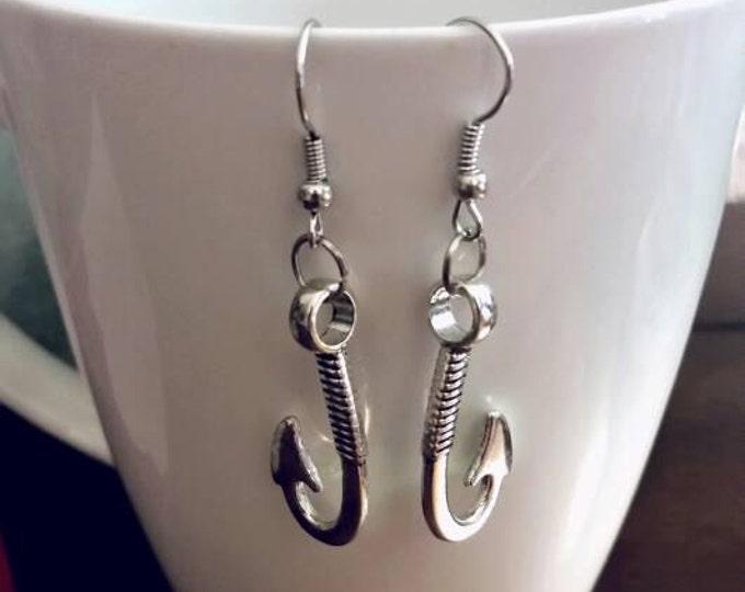 Silver Fish Hook Earrings