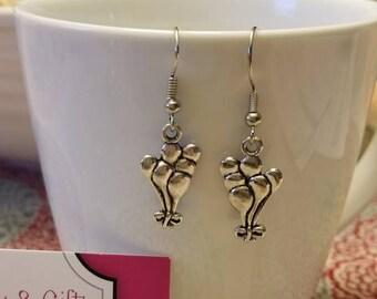 Silver Balloons Dangle Earrings