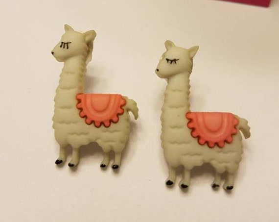 No Drama Llama Button Stud Earrings