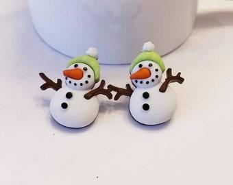 Winter Wonderland Snowmen Stud Earrings