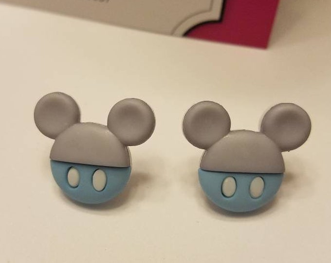 Baby Mickey Mouse Ears Button Stud Earrings
