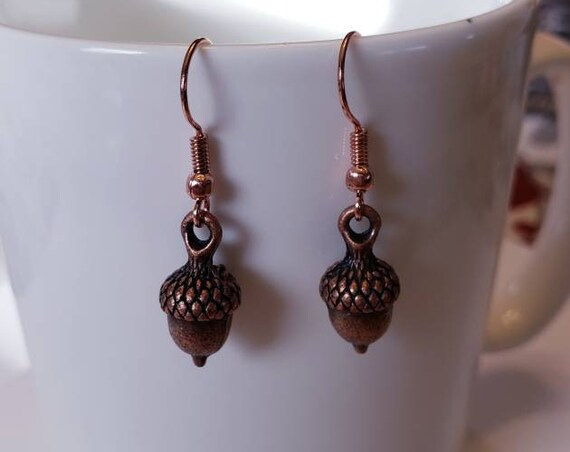 Acorns Fall Dangle Earrings