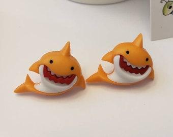 Fin - tabulous Shark Stud Earrings