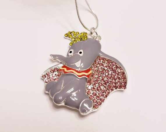 Disney Friends Chunky Enamel Pendant Silver Necklace
