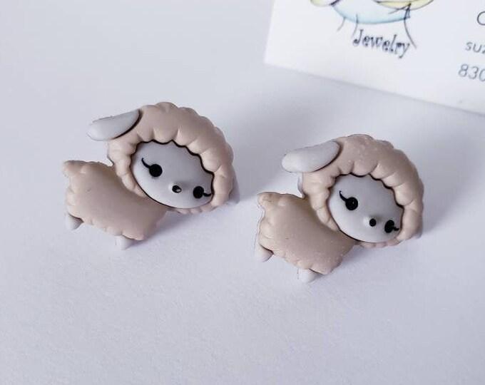 Cute Easter Critters Button Stud Earrings