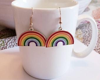 Colorful Rainbow LGBTQ Dangle Earrings