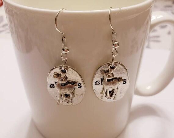 Always Deer Patronus Silver Dangle Earrings