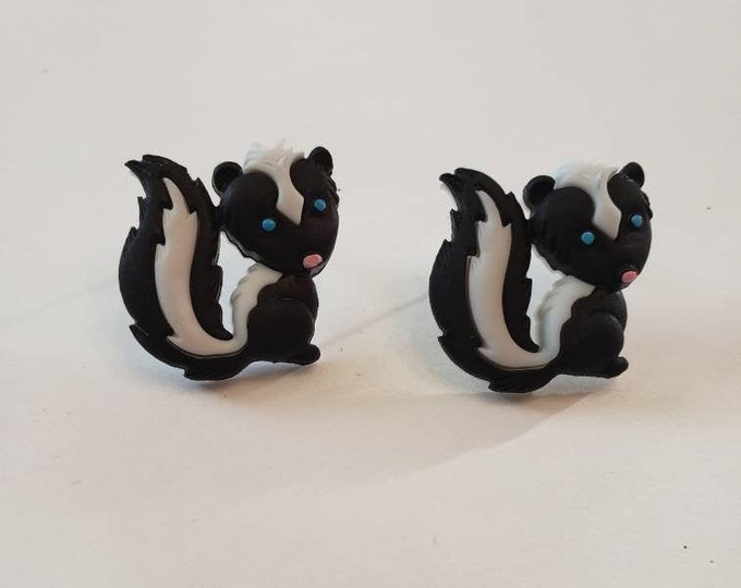 Adorable Forest Creatures Button Stud Earrings