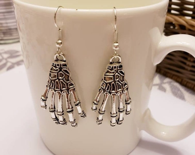 Coraline Inspired Other Mother Hands Silver Dangle Earrings