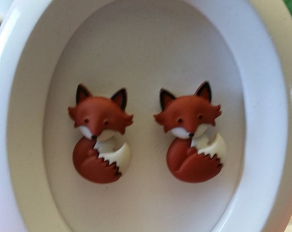 Sly Fox Button Stud Earrings