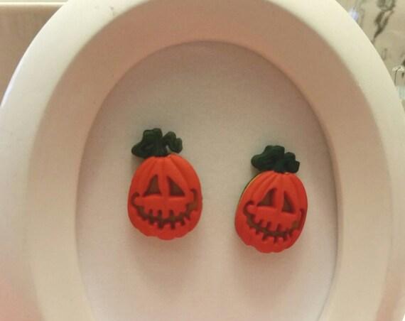 Spooky Halloween Button Stud Earrings, Various Styles