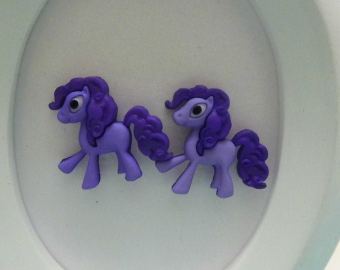 Pony Button Stud Earriings