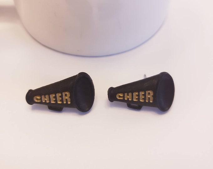 Gold & Black Cheer Stud Earrings