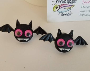 Silly Halloween Faces Large Stud Earrings