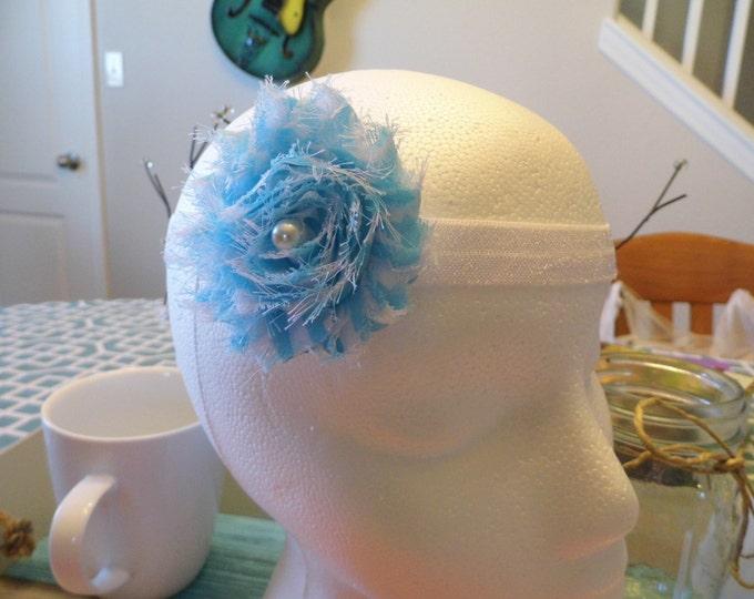 Shabby Flower Satin Headband (Multiple Colors)