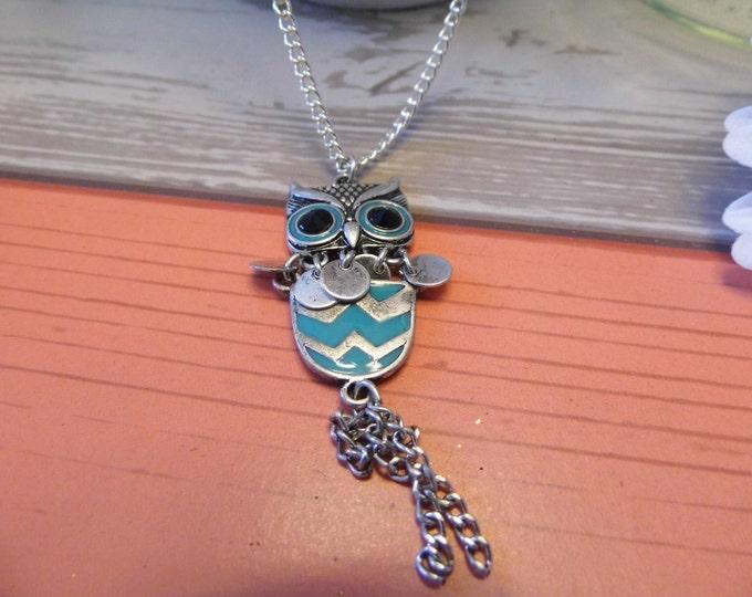 Chevron Owl Necklace