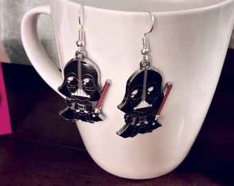 Star Wars Darth Vader Charm Earrings