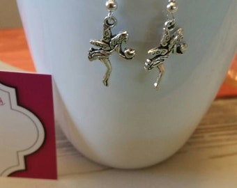 Spring Fairy Charm Dangle Earrings