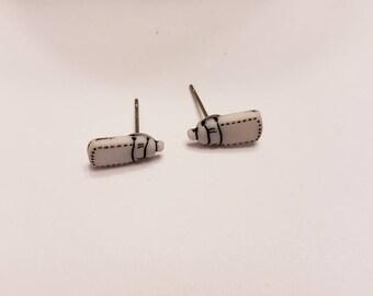 Mini Baby Shower Button Stud Earrings