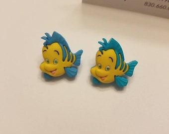 The Little Mermaid Ariel & Friends Button Earrings