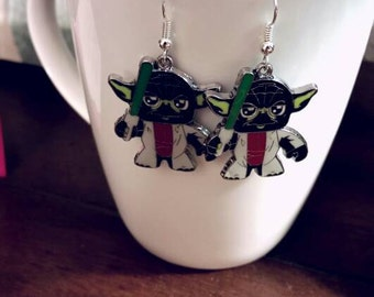 Star Wars Yoda Charm Earrings